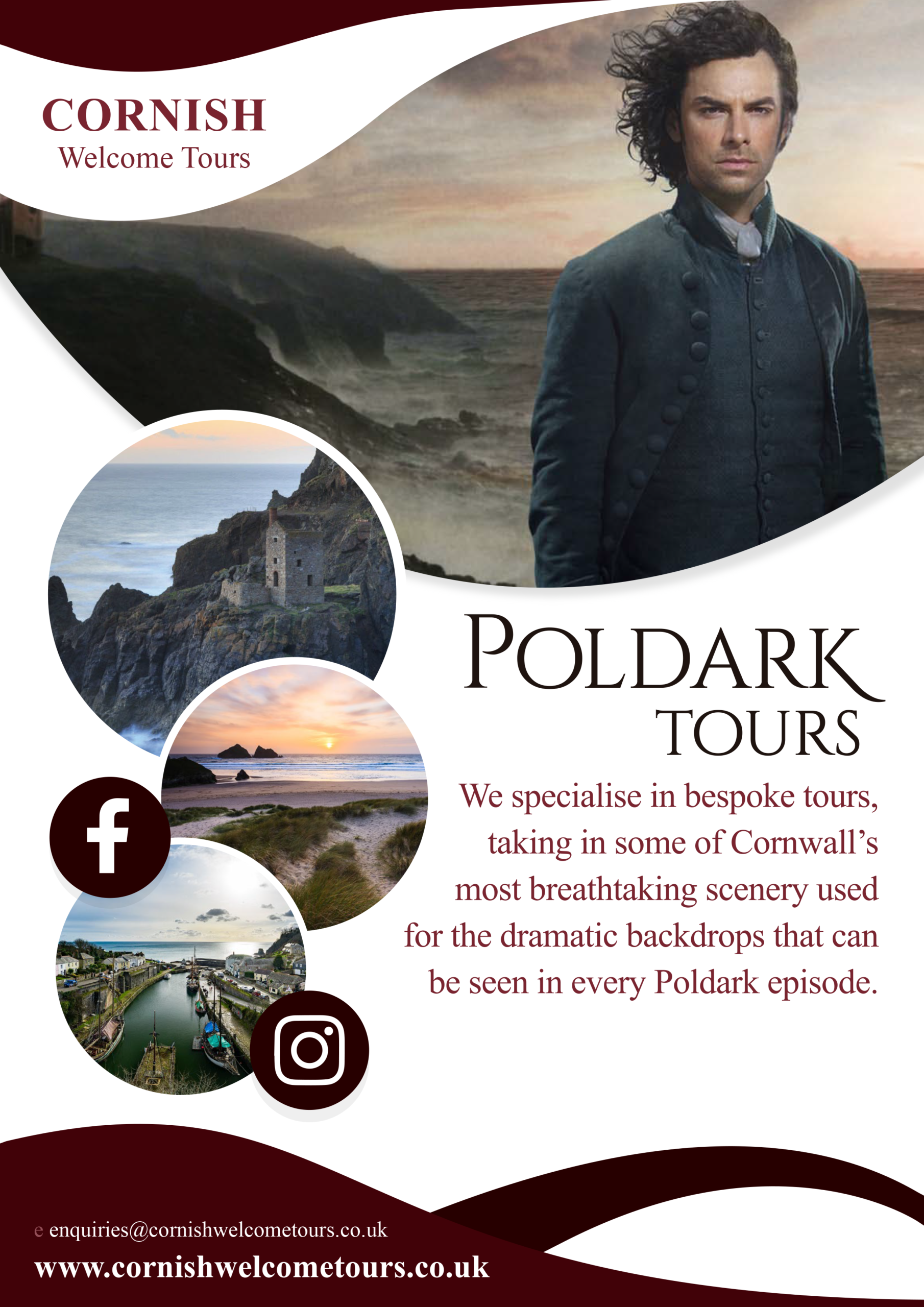 Cornish Welcome Tours Poldark Poster