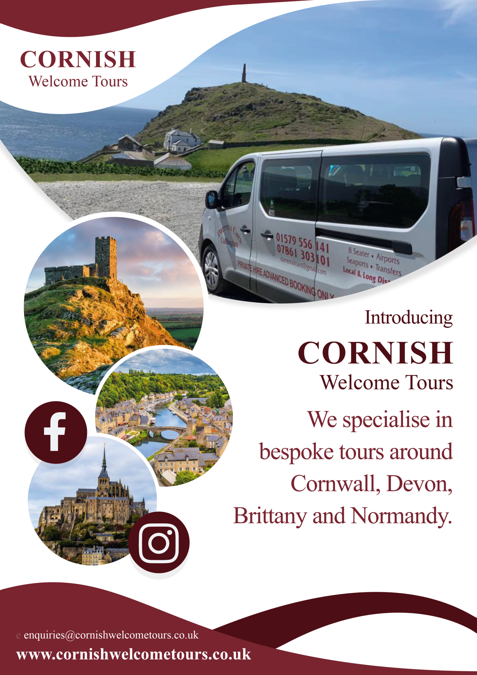 Cornish Welcome Tours Poster 1