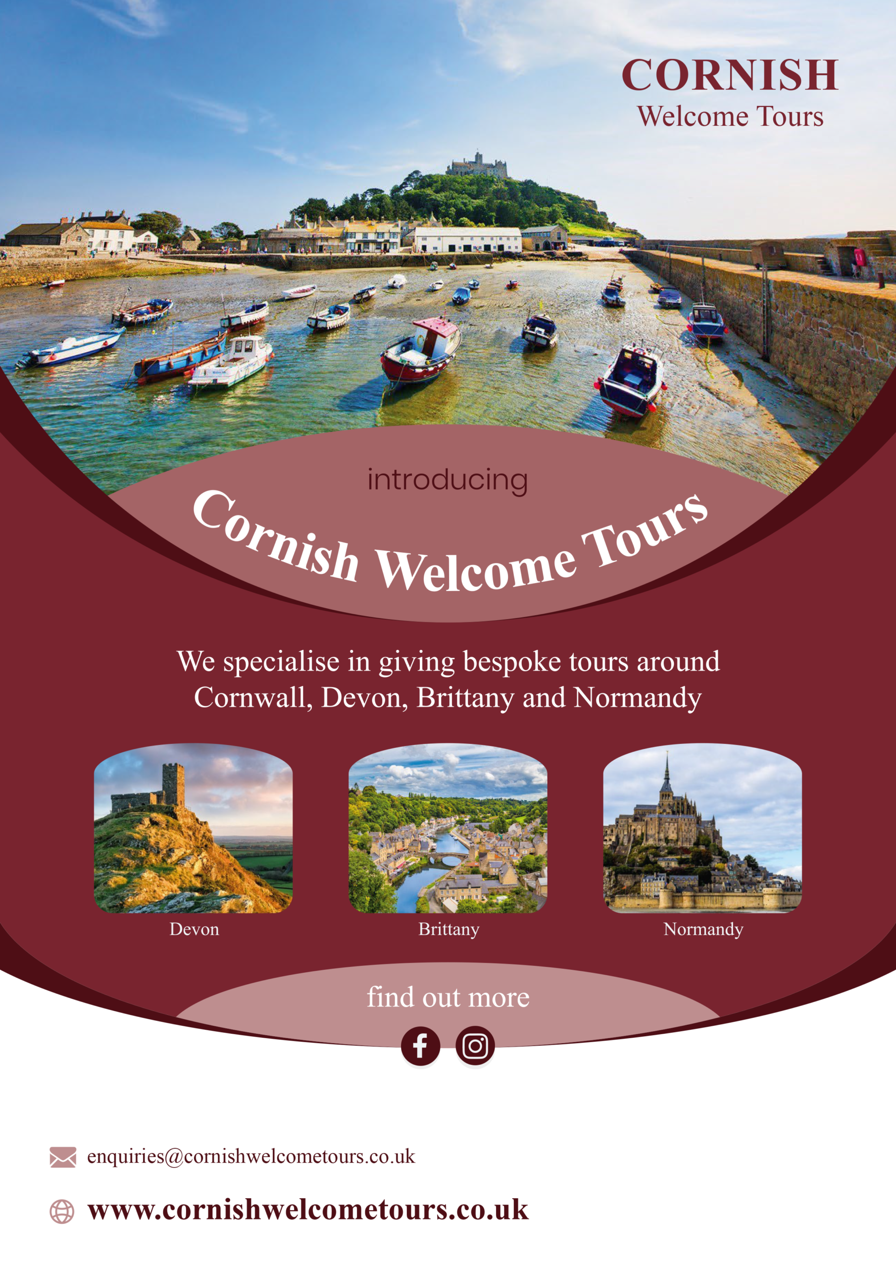 Cornish Welcome Tours Poster 2